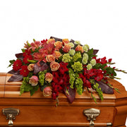 Magnificent Farewell Half Casket Spray