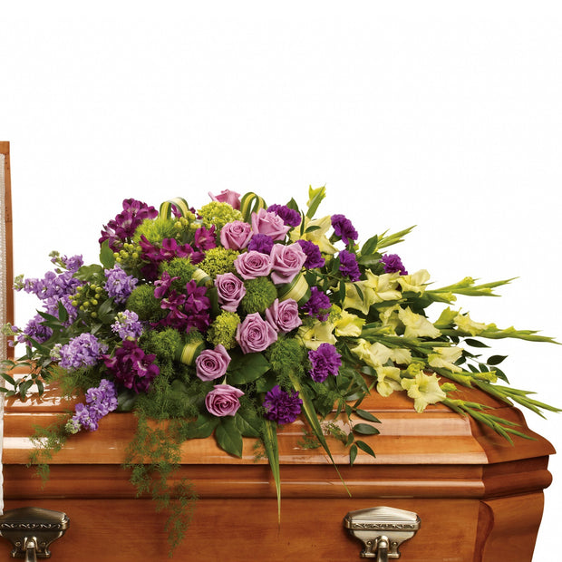 Heavenly Gardens Half Casket Spray