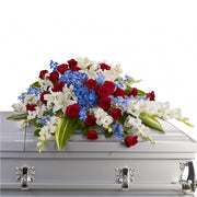 Patriotic Legacy Half Casket Spray