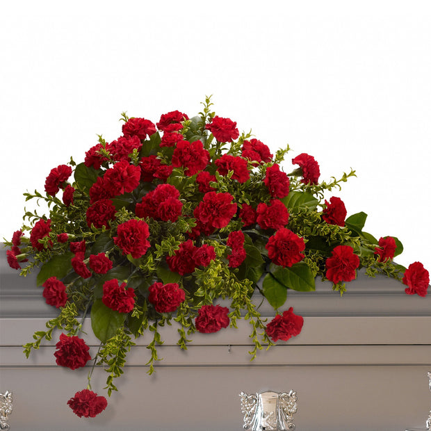Adored Carnations Half Casket Spray