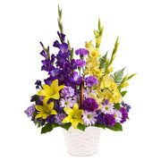 Graceful Gladioli, Lilies and Carnations Basket