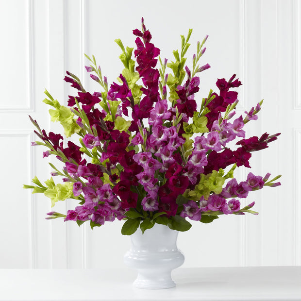Elegant Purple Glads Basket