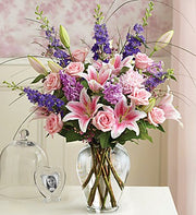 Lovely Lily & Rose, Pink & Purple tones