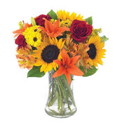 Sunflower Lily Bouquet