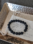 Black Lava Diffuser Bracelet - The Olfactory Shop