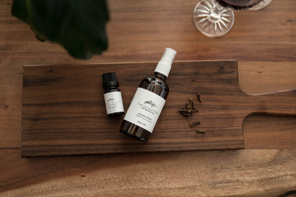 thieves blend essential oil. purchase this spray and oil combo pack on the olfactory shop dot com