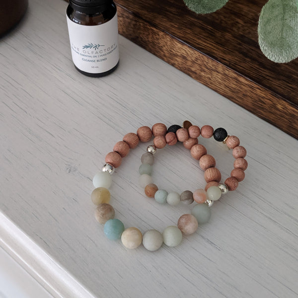 MOM + ME Amazonite Bracelet Set
