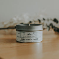 pure canadian balsam fir essential oil candle. Made in Calgary alberta, Canada
