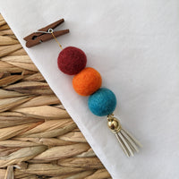 Pom Pom Diffuser - Burgundy, Orange, Teal