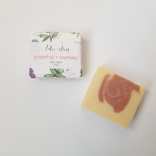 Grapefruit + Rosemary Premium Bar Soap - The Olfactory Shop