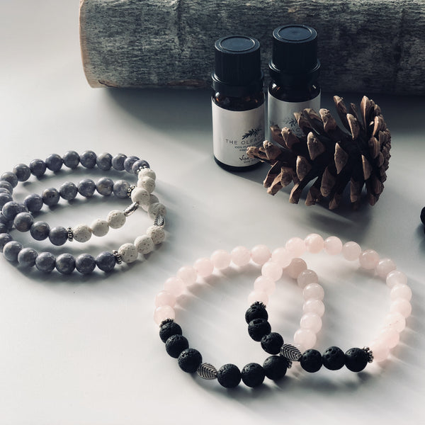Rose Quartz Diffuser Bracelet - The Olfactory Shop