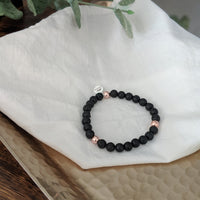 Lava and Rose Gold Stacker Bracelet - The Olfactory Shop