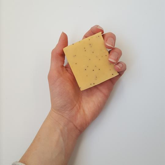 Orange + Poppyseed Premium Exfoliating Bar Soap - The Olfactory Shop