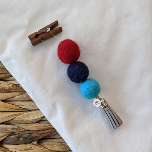 Pom Pom Diffuser - Red, Navy, Teal