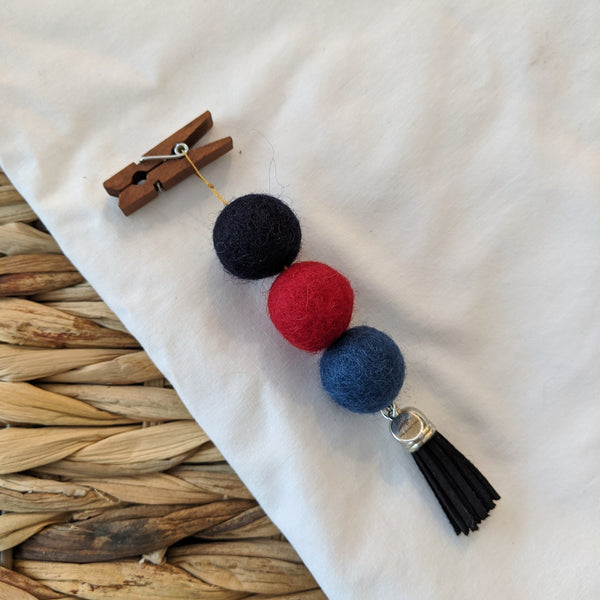 Pom Pom Diffuser - Navy, Red, Denim