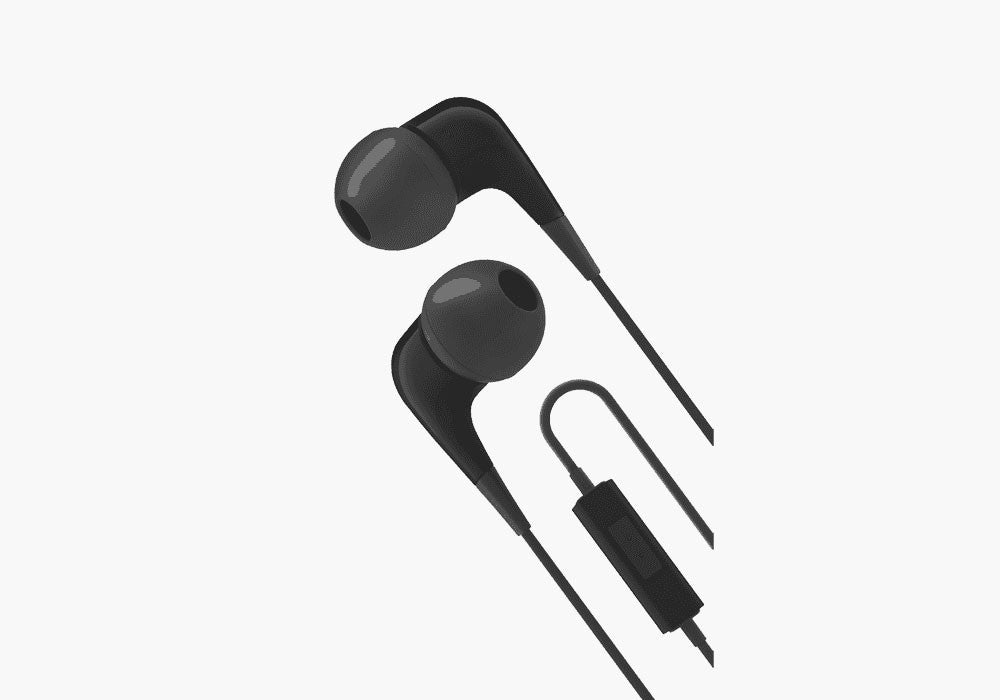 Earphones with Built-In Mic in Black