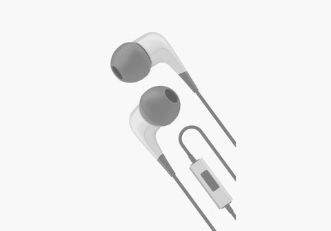 Earphones with Built-In Mic in Grey