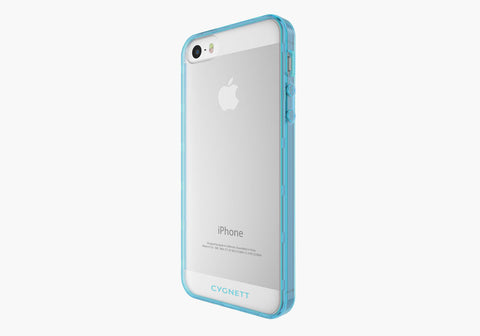 AeroShield Case for iPhone SE - Blue Trim