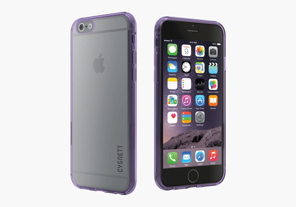 AeroShield Case for iPhone 6s & 6 - Purple Trim