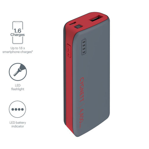 4,400mAh Power Bank - Red/Grey - Cygnett (AU)