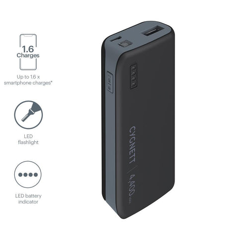4,400mAh Power Bank - Black/Grey - Cygnett (AU)