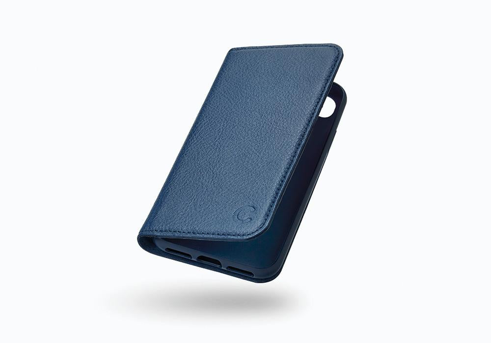 iPhone 8 & 7 Leather Wallet Case in Navy