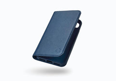 iPhone 8 Leather Wallet Case in Navy