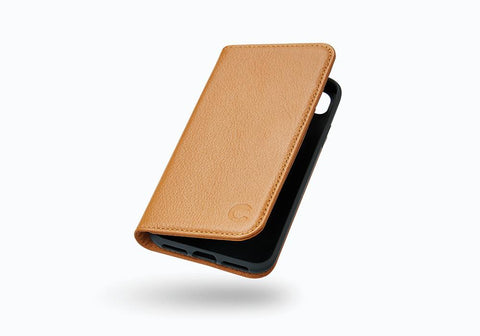 iPhone 8 Plus Leather Wallet Case in Tan
