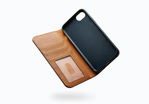 iPhone 8 Plus & 7 Plus Leather Wallet Case in Tan - Cygnett (AU)