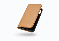 iPhone X Leather Wallet Case in Tan