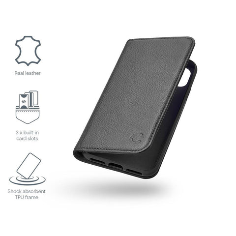 iPhone Xs & X Leather Wallet Case in Black - Cygnett (AU)