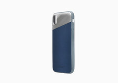 iPhone Xs & X Leather Case in Navy