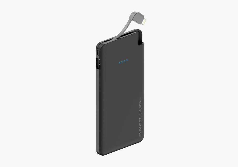 ChargeUp Pocket 4,000mAh Power Bank with Integrated Micro-USB Cable