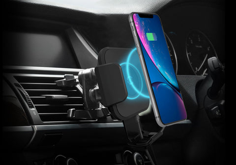 10W Wireless Smartphone Car Charger Vent Mount