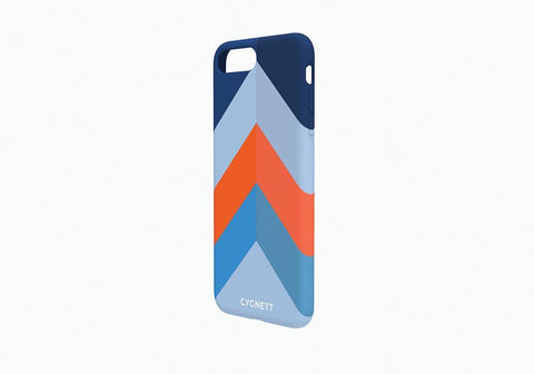 iPhone 7 Chevron Stripe Case in Blue