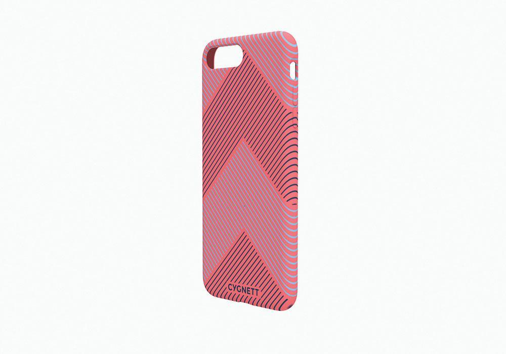 iPhone 8 Chevron Stripe Case in Red