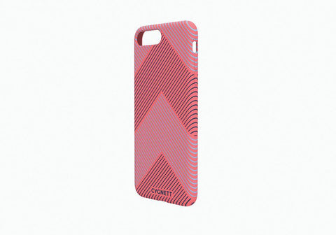 iPhone 8 & 7 Chevron Stripe Case in Red