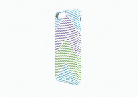 iPhone 7 Plus Chevron Stripe Case in White