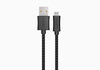 LightSpeed 1m USB-C to USB-A Cable 2.0 in Braided Black