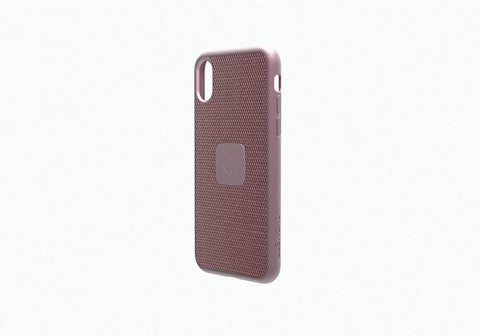 iPhone Xs & X Slim Case with Carbon Fibre in Rose Gold