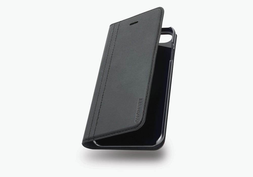 iPhone 7 Plus Flip Case in Black Leather