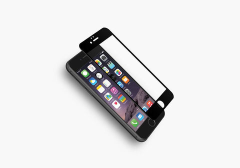 Tempered Glass Screen Protector for iPhone 6 & 6s in Black