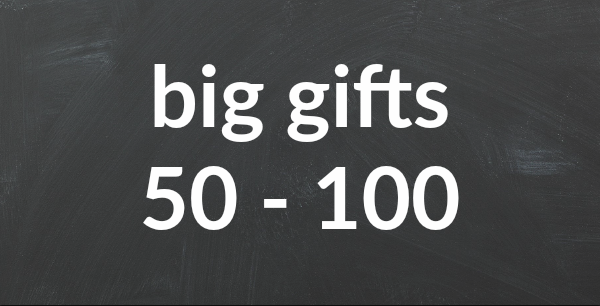 Gifts between 50 - 100 Euros