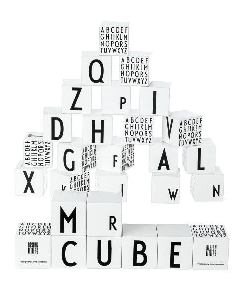 Arne Jacobson Wooden Cubes ABC DESIGN LETTERS - www.fourmonkeys.com