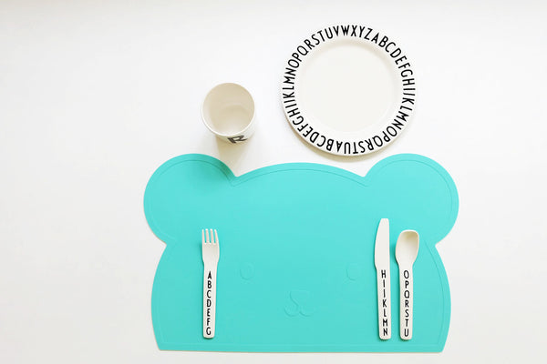 Aqua Bear Silicone Placemat oh happy fry - www.fourmonkeys.com