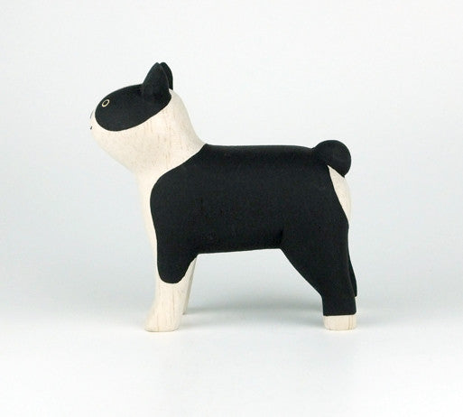 PolePole Boston Terrier Wooden Animal