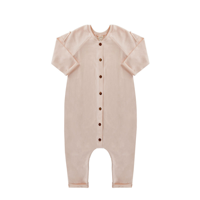 Jumpsuit - Cream Pink