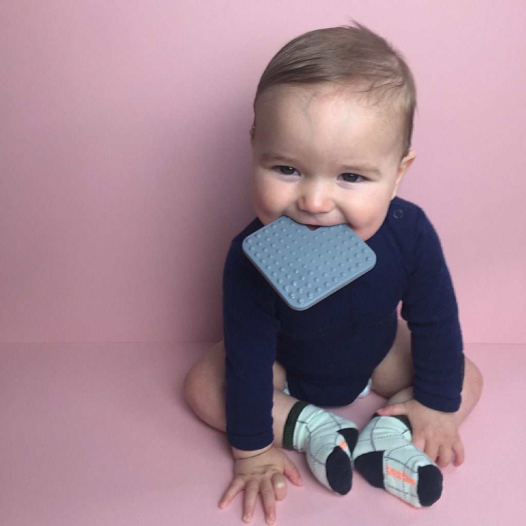 Grey Square Teether