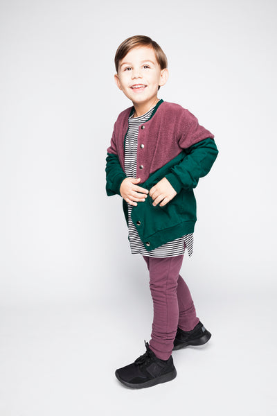 Brushed Baby Sweat Leggings - Eggplant