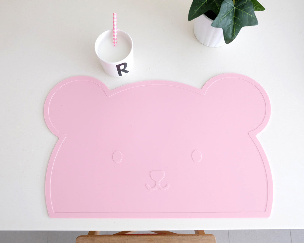Pink Bear Silicone Placemat oh happy fry - www.fourmonkeys.com
